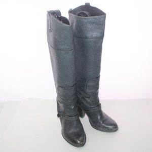 Sam Edelman Knee High Pebbled Leather Riding Boots